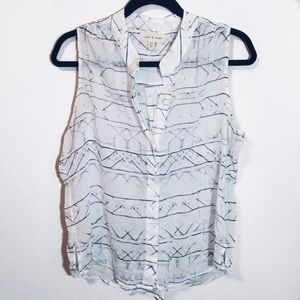 Anthropologie Cloth & Stone Button Up Tank Top